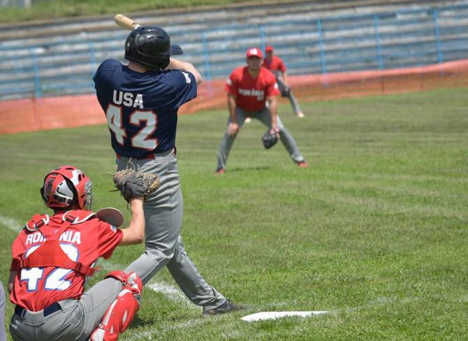Militari americani, meci de baseball la Constanța - FOTO