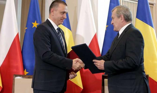Ceremonia de semnare a Acordului bilateral România-Polonia