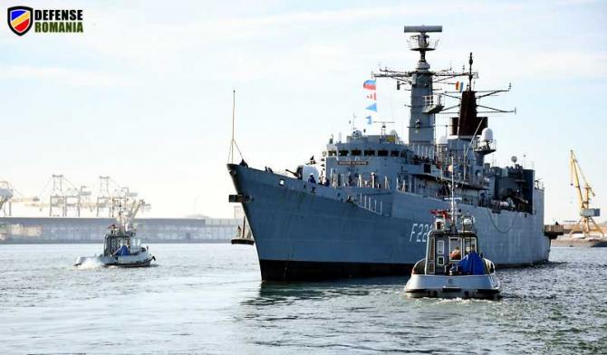Plecarea fregatei Regele Ferdinand în misiune. foto: navy.ro