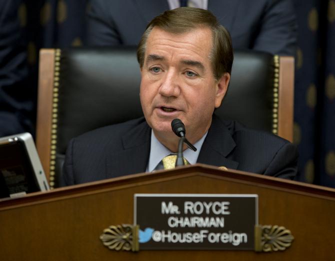 Președintele Comisiei pentru afaceri externe al Camerei Reprezentanților din SUA, Ed Royce