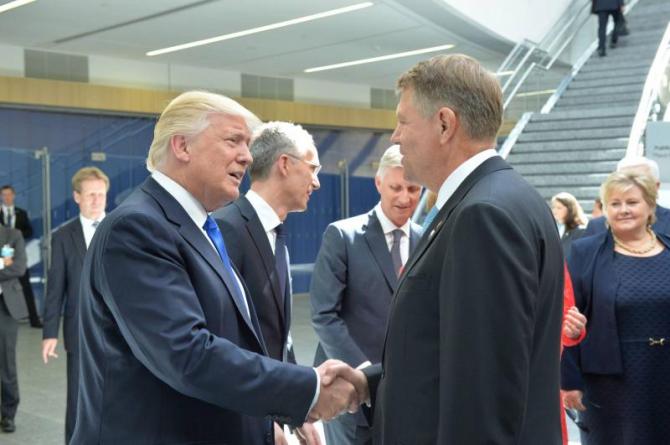 Presedintele SUA, Donald Trump si Klaus Iohannis