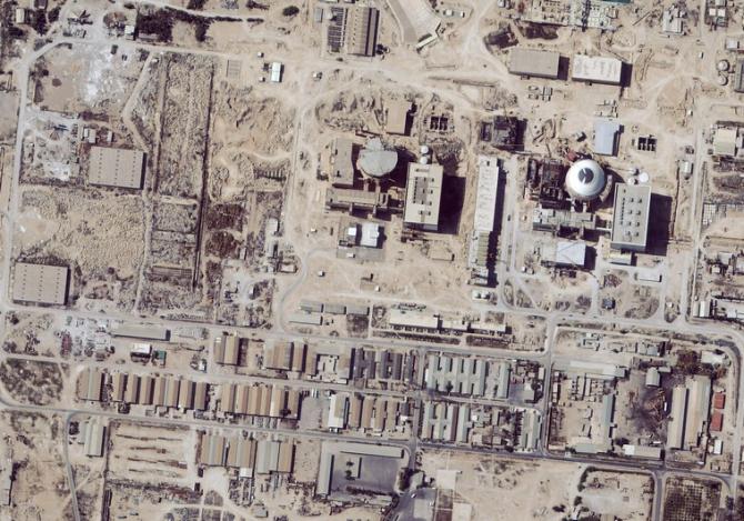 Imaginea prin satelit arată o instalație nucleară în Iran.