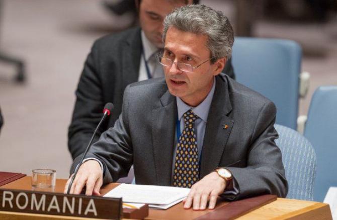 Reprezentantul Permanent al României la Naţiunile Unite, ambasadorul Ion Jinga