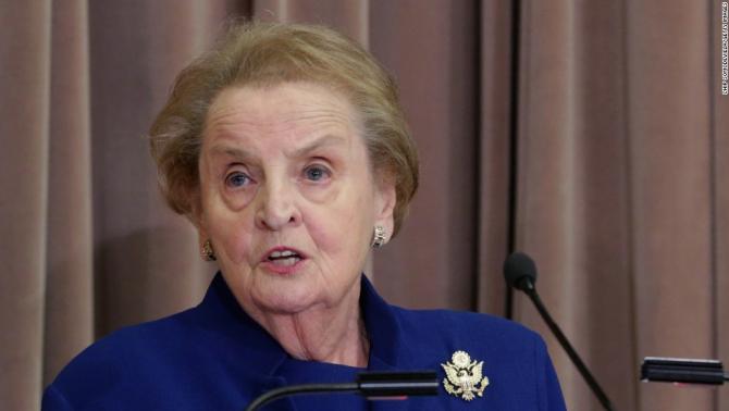 Fostul secretar de stat al SUA Madeleine Albright