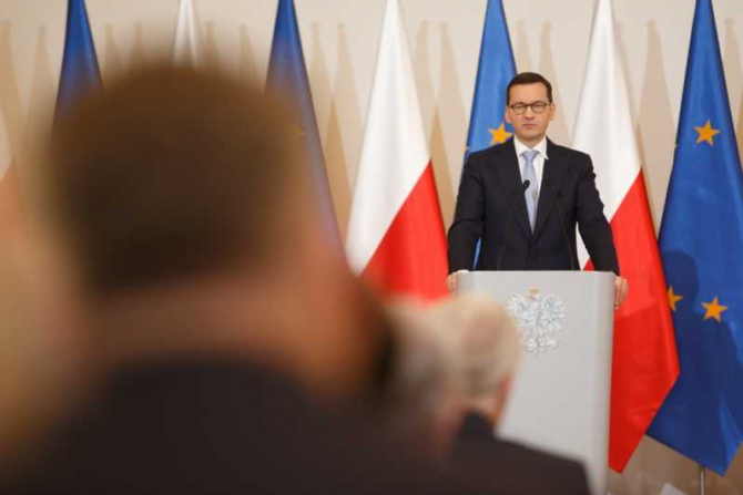 Premierul Poloniei Mateusz Morawiecki