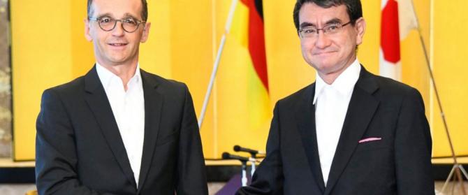 Ministrul de externe german,Heiko Maas şi omologul său japonez, Taro Kono