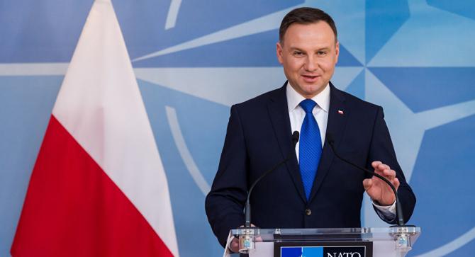 Preşedintele polonez Andrzej Duda