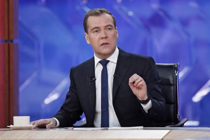 premierul rus Dmitri Medvedev