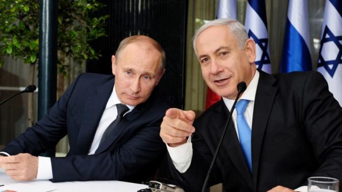 Premierul israelian Benjamin Netanyahu si preşedintele rus Vladimir Putin