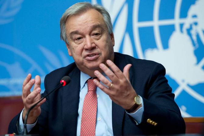 Secretarul general al ONU, Antonio Guterres
