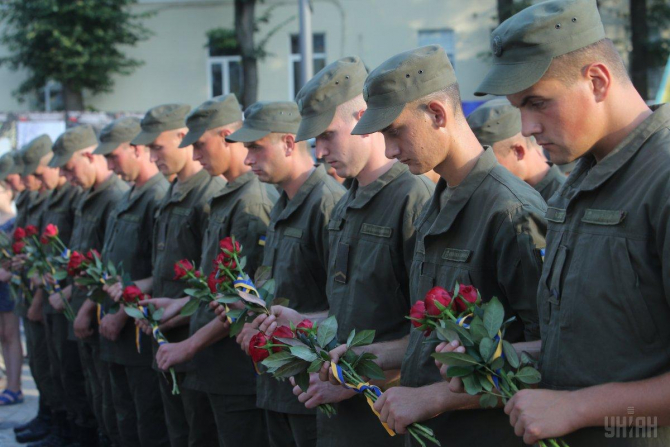 comemorarea bătălia de la Ilovaisk. Sursa foto: UNIAN