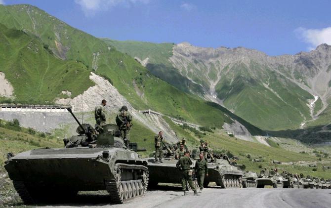 Anul 2008-Invadarea Georgie de către trupele armatei ruse