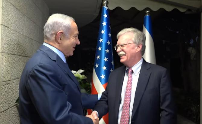 John Bolton, vizită în Israel