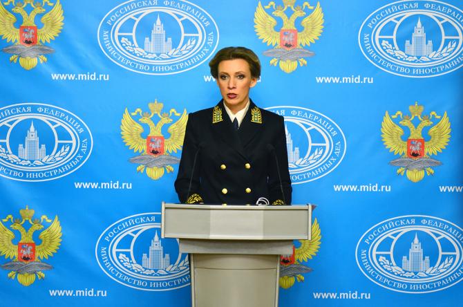 purtătoarea de cuvânt a MAE rus, Maria Zaharova