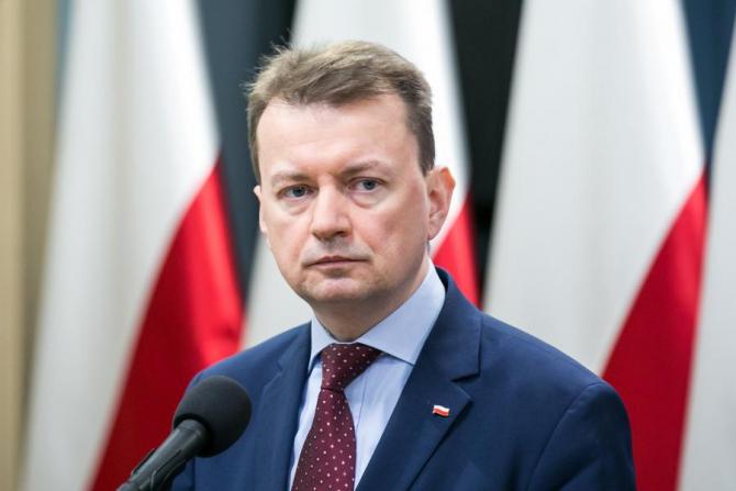 Ministrul polonez al apărării, Mariusz Blaszczak,