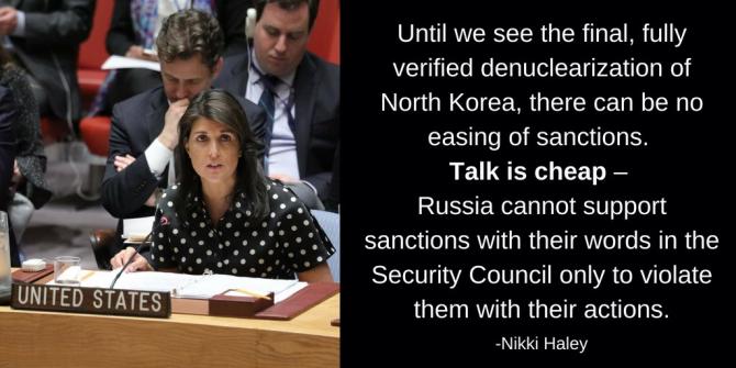 Nikki Halley, ONU. foto: Twitter