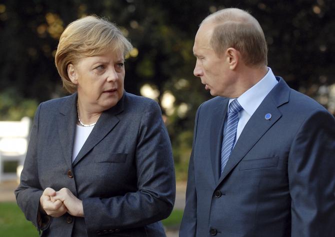 Angela Merkel și Vladimir Putin