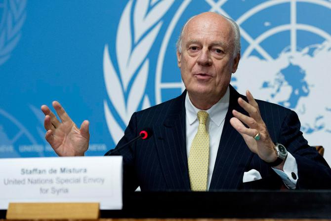 Emisarul special al ONU Staffan de Mistura