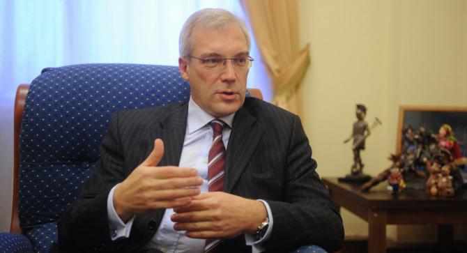 ministrul de externe adjunct rus Aleksandr Gruşko