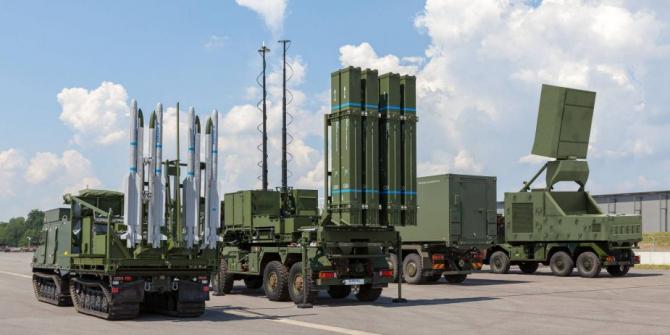 sisteme de apărare aeriană cu rază medie de acțiune, IRIS-T SLM (sursă foto: Diehl)