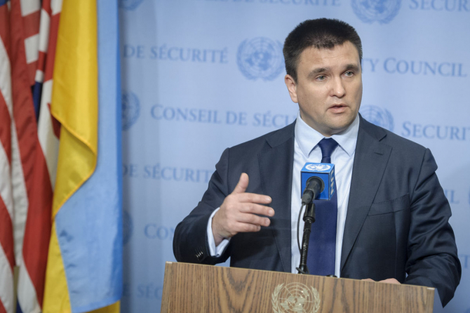ministrul ucrainean de externe, Pavel Klimkin