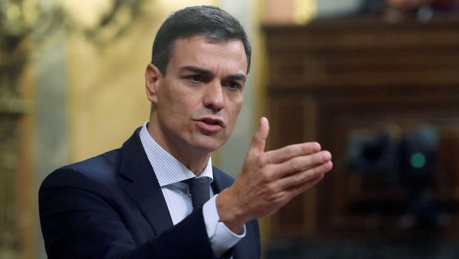 Şeful guvernului socialist al Spaniei, Pedro Sanchez