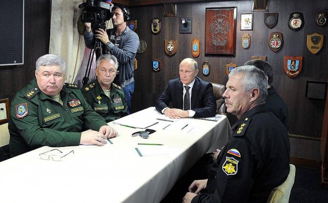 Vladimir Putin, la exercițiul Vostok 2018