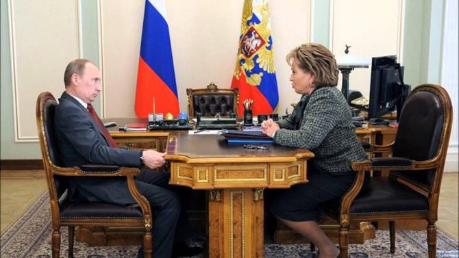 Vladimir Putin și Valentina Matvienko