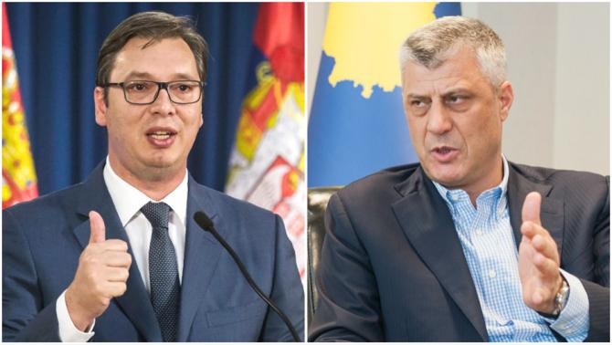 Preşedinţii sârb şi kosovar, Aleksandar Vucic şi Hashim Thaci