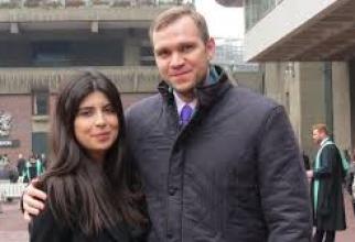 Studentul britanic Matthew Hedges şi soţia sa Daniela Tejada
