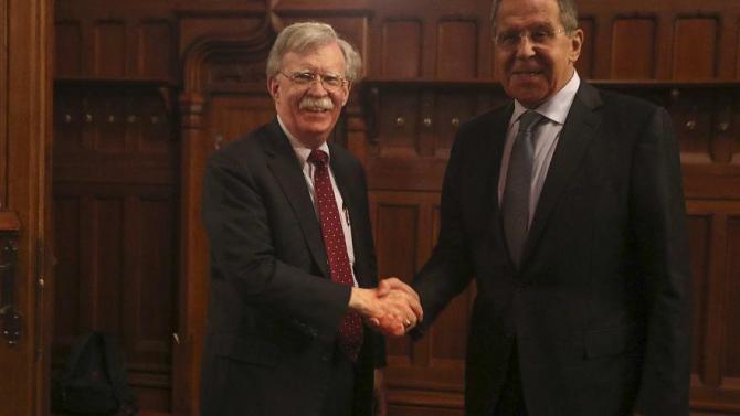 Consilierul pentru securitate naţională al Casei Albe, John Bolton, s-a întâlnit luni la Moscova cu şeful diplomaţiei ruse, Serghei Lavrov