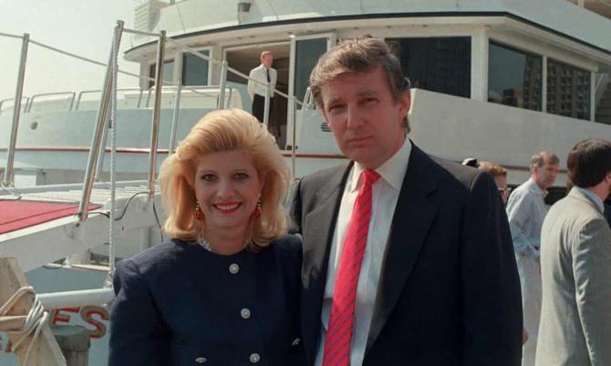 Donald Trump și soția lui, Ivana, în 1988. Sursa foto: The Guardian
