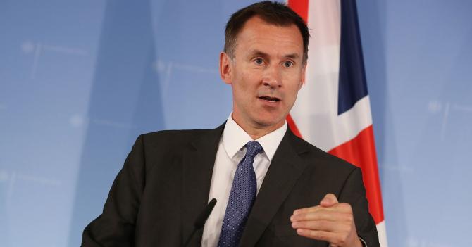ministrul britanic de externe Jeremy Hunt