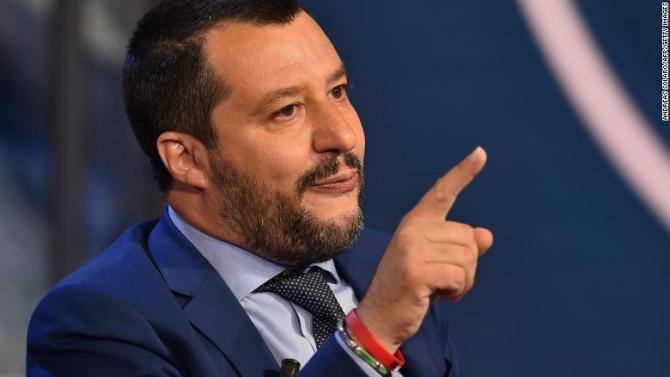 ministrul de interne şi vicepremierul Italiei, Matteo Salvini