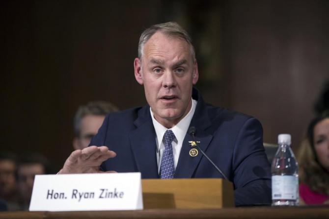 ministrul american de Interne Ryan Zinke