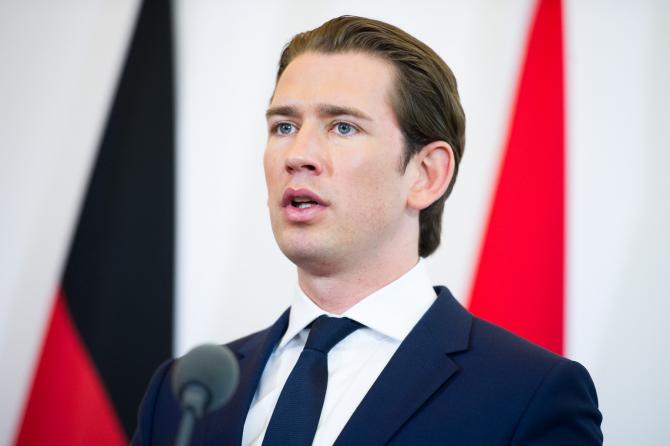 cancelarul austriac Sebastian Kurz