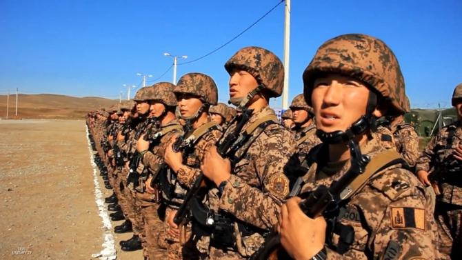 """unităţi militare mongole la deschiderea exerciţiului ,,Selenga-2018"""""""