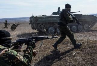 Război Ucraina: Separatisti prorusi în timpul unui atac împotriva Armatei din Ucraina în confruntările din estul țării