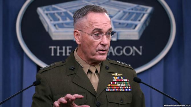 Şeful Statului major interarme al SUA, generalul Joseph Dunford