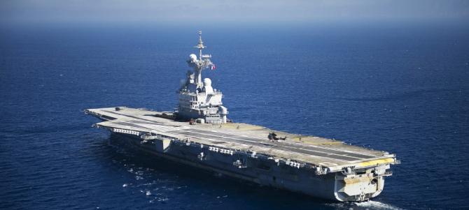 """Portavionul """"Charles de Gaulle"""", sursă foto: Gouvernement.fr"""