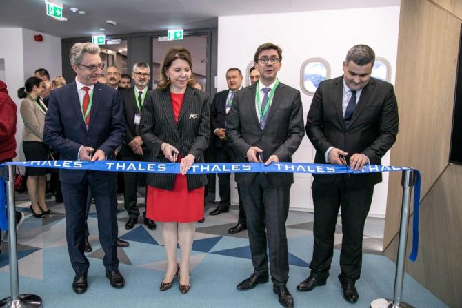 Ministrul Gabriel Leș a fost prezent la inaugurarea Centrului Thales
