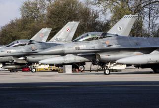 Avioane F-16 ale Poloniei și Olandei, înainte de decolare, în cadrul exercițiului NATO Frisian Flag