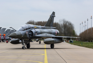 Avion francez Mirage 2000D, în cadrul exercițiului NATO Frisian Flag 2019