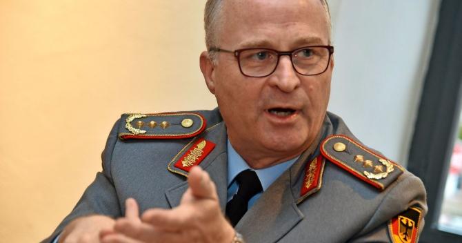 Generalul Eberhard Zorn, şeful Statului Major General al Germaniei