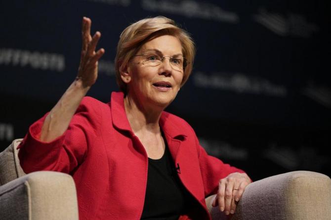 Candidata democrată la prezidenţialele americane din 2020 şi senatoare progresistă Elizabeth Warren