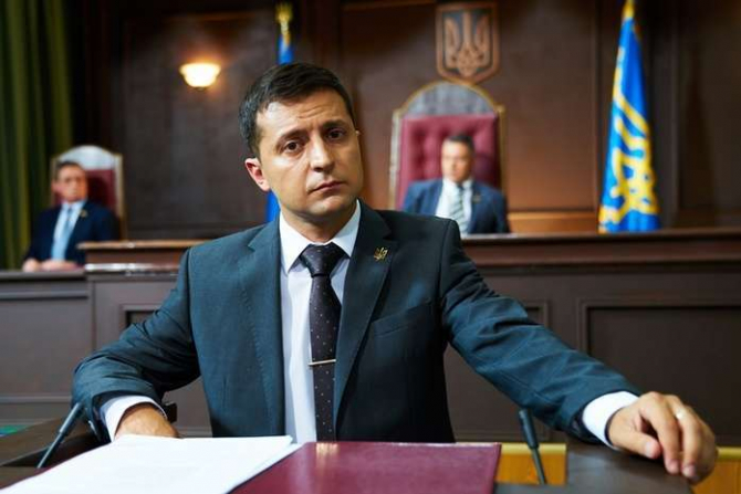 preşedintele ales al Ucrainei, Volodimir Zelenski