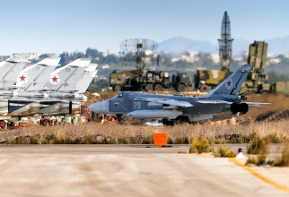 Baza aeriană rusă Hmeimim din Siria, sursă foto: Ministerul Apărării din Rusia