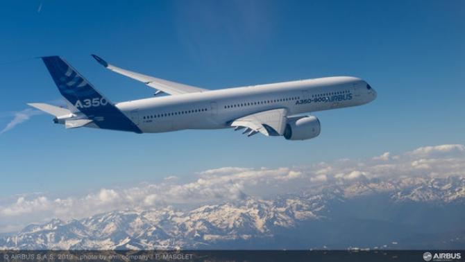 Aeronavă ACJ350 XWB, sursă foto: Airbus