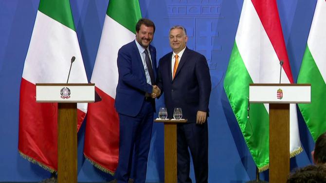 Liderul italian eurosceptic, Matteo Salvini, și premierul ungar, Viktor Orban, s-au întâlnit joi, la Budapesta