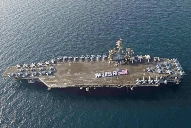 Portavionul USS Abraham Lincoln, sursă foto: Twitter USS Abraham Lincoln